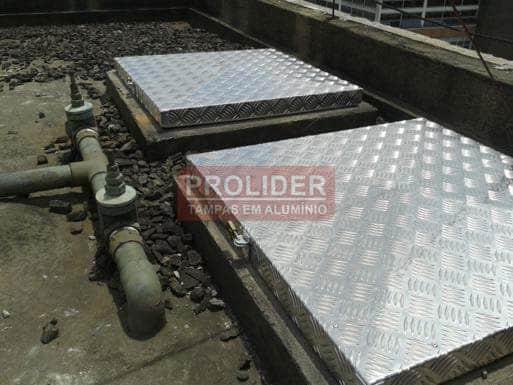 Tampa alumínio para caixa d'água Prolider